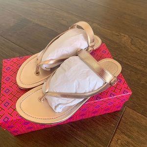 Tory Burch Rose Gold Sandals